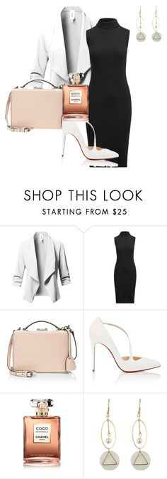 """""""Untitled #43"""" by andreachagas on Polyvore featuring Mark Cross, Christian Louboutin and Chanel"""