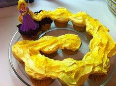 Tangled cupcake cake - now this would be easy!