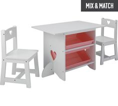 Buy Collection Mia Table and 2 Chairs - White at Argos.co.uk, visit Argos.co.uk to shop online for Children's tables and chairs, Children's bedroom furniture, Bedroom furniture, Home and garden