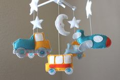 Baby crib Mobile  Baby Mobile  Decorative by dropsofcolorshop