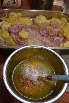 Ψάρι στον φούρνο με πορτοκάλι - μουστάρδα !!! ~ ΜΑΓΕΙΡΙΚΗ ΚΑΙ ΣΥΝΤΑΓΕΣ Sausage, Potatoes, Fish, Sausages, Potato, Pisces, Chinese Sausage