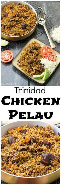 Trinidad Chicken Pelau: A step by step guide on making the unofficial Trinidad national dish, pelau. A hearty one pot dish of caramelized chicken with rice and pigeon peas. #HomeMadeZagat