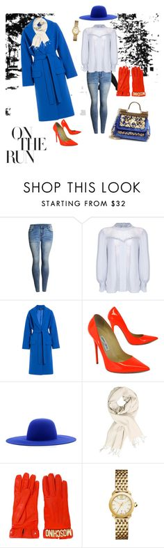 """""""On the run"""" by glambum ❤ liked on Polyvore featuring SOREL, Ghost, Alexander McQueen, Jimmy Choo, Études, Moschino, Tory Burch and Dolce&Gabbana"""