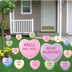 """Giant Valentine's Day Card! 2 large cards that measure 24""""x22"""". Show that special someone you love them. FREE SHIPPING!"""