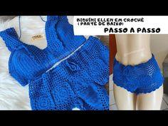 Crochet Stitches, Crochet Patterns, Crochet Jumpsuits, Crochet Girls, Crochet Videos, Monokini, Crochet Clothes, Arm Warmers, Crochet Projects
