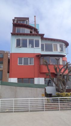 Pablo Neruda house La Sebastiana eccentric sky house overlooking the whole harbor in Valparaiso, Chile.