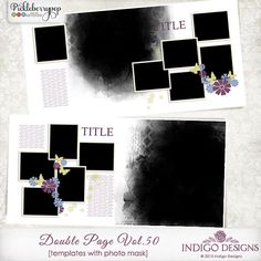 Double Page Templates with Mask Vol.50 by Indigo Designs