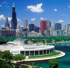 Shedd Aquarium on Lake Michigan, Downtown Chicago