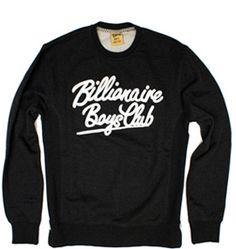 BILLIONAIRE BOYS CLUB logo crew-neck in Black B0712K253, Free Shipping at CelebrityModa.com