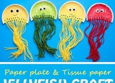 How to Make Paper Plate and Tissue Paper Jellyfish Craft