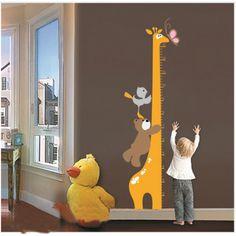 Sticker mètre girafe #deco #enfant