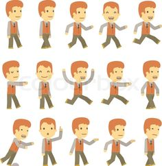 Simple Character Design Vector Urban character set
