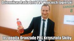 """Słynny """"wampir"""" Dziennikarz Radia Zet i TVP Wojciech Jagielski tez popija Oranżadę PRL Skiby !!!"""