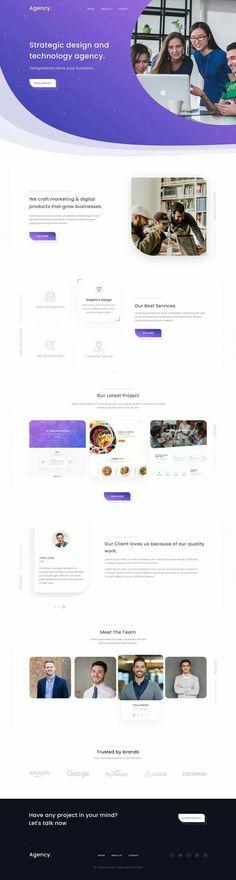 Strategy Modern Landing Website Design - pinupi love to share Design Sites, Web Ui Design, Best Web Design, Web Design Trends, Design Design, Corporate Website Design, Website Design Layout, Web Layout, Layout Design