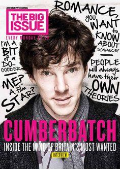 Benedict Cumberbatch. The cover of next week's Big Issue featuring Benedict Cumberbatch