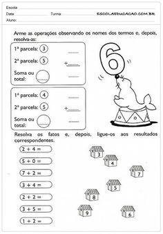 Atividades de Matemática 1º ano - Somando com 6
