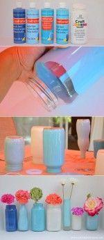 decorar botellas de vidrio 2