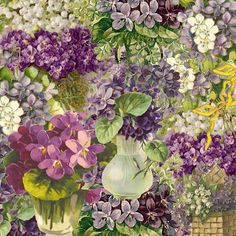 Free 12 x 12 inch vintage violet printable for scrapbooking and paper crafting.