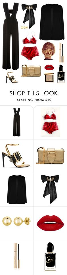 """""""red lingerie"""" by brunaf19 ❤ liked on Polyvore featuring Sally Lapointe, Burberry, Boohoo, Oscar de la Renta, BERRICLE, Dolce&Gabbana and Giorgio Armani"""