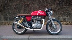 Edit: Now launched as Continental GT. Cafe Racer Bikes, Cafe Racers, Royal Enfield, Cool Bikes, Bobber, Motorbikes, Harley Davidson, Automobile, Product Launch