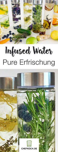 Infused Water ist die perfekte Erfrischung an heißen Tagen!