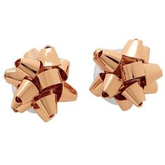 Kate Spade O0RU1676 Women's Rose Gold Tone Bow Stud Earrings #KateSpade #Stud