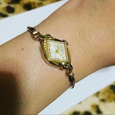 Lady's Hamilton Hand Wind Watch by Vintage Watches Women, Ladies Watches, Art Deco Watch, Beautiful Watches, Cool Watches, Aunt, Gold Watch, Watch Bands, Hamilton