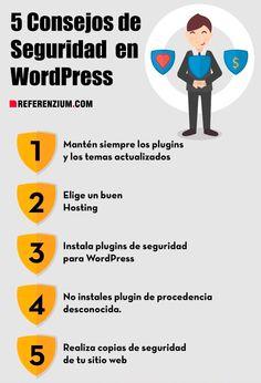 5 Consejos de #Seguridad en #Wordpress - by http://www.referenzium.com/