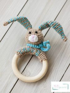 Free (German) crochet pattern for a baby toy