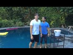 ALS ice bucket challenge - Ashton Kutcher, Wilmer Valderama, and Dax Shepard