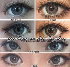 GEO EyesCream Color Circle Contact Lens. Genuine GEO products only at EyeCandy's http://www.eyecandys.com/eyes-cream-series-14-5mm/