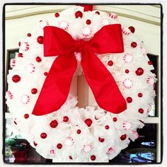 Coffee filter wreath for Christmas