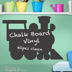 Chalkboard Decal Train Engine: Kids Playroom Decor Kids por Twistmo