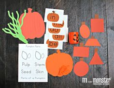 Teaching toddlers and preschoolers with themes. Everything needed to complete 4 projects each week. Toddler Classroom, Toddler Preschool, Preschool Ideas, Classroom Activities, Craft Ideas, Fall Festival Activities, Parts Of A Pumpkin, Toddlers, October