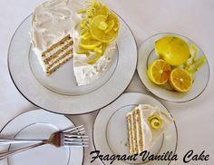 Vegan Lemon Poppy Seed Layer Cake (gluten free) from Fragrant Vanilla Cake