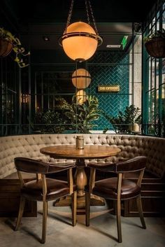 restaurant design To learn more about interior design and other services we offer, check out our website! Cafe Restaurant, Bar Restaurant Design, Restaurant Seating, Restaurant Ideas, Cafe Bar, Bohemian Restaurant, Colorful Restaurant, Restaurant Bar Stools, Organic Restaurant
