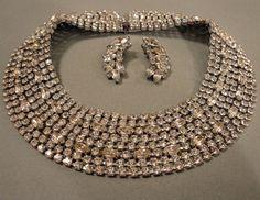 Vintage Hattie Carnegie Necklace Rhinestone by EyeCandyAntiques, $245.00