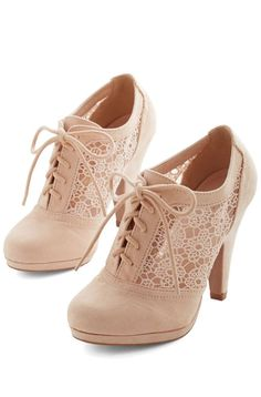 Nude Lace Booties ♥ L.O.V.E.