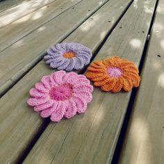Crochet Flower Pattern 3D Gerbera Easy PDF beginner by bySol