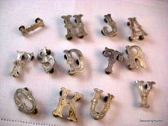 Your place to buy and sell all things handmade Scroll Pattern, 3 Letter, Thing 1, Western Jewelry, Rodeo, Leather Craft, Drill, Westerns, Silver Plate