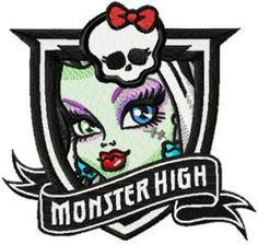 monster high frankie stein embroidery design. Machine embroidery design. www.embroideres.com