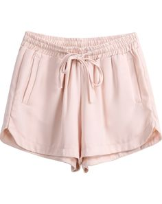 To find out about the Apricot Elastic Drawstring Waist Straight Shorts at SHEIN, part of our latest Pants ready to shop online today! Girls Fashion Clothes, Girl Fashion, Fashion Outfits, Clothes For Women, Womens Fashion, Summer Outfits, Cute Outfits, Monokini, Women's Summer Fashion