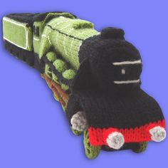 Knitted Steam Train