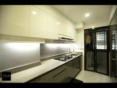 Kitchen Ideas | OMUS living  Note: Black + White. My Fav. Simple. And fuss free.