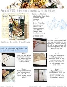 Haus Of W: Project W013: Handmade Journal & Notes Album