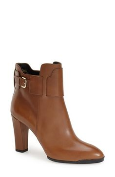 Free shipping and returns on Tod's Ankle Bootie (Women) at Nordstrom.com. A buckled belt provides a sophisticated accent to an almond-toe leather bootie impeccably crafted in Italy. For a self-assured step, the sculpted covered heel is paired with a signature, slip-resistant pebbled sole.