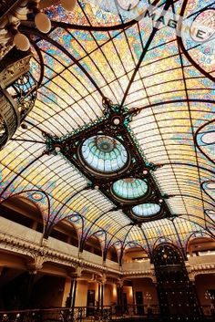 Tiffany stained-glass ceiling in Gran Hotel Cuidad de Mexico