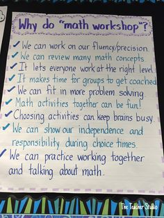 One teacher's 5 secrets to a fantastic math workshop: students share why they think math workshop is important