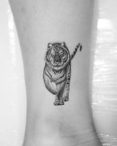Dragon Tiger Tattoo, Tiger Tattoo Small, Animal Tattoos For Men, Small Wolf Tattoo, Wrist Tattoos For Women, Tattoos For Women Small, Tattoos For Guys, Wolf Tattoo Design, Skull Tattoo Design