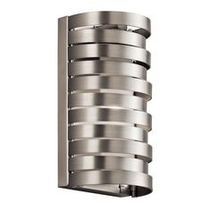 Kichler 43305NI Roswell Wall Sconce 1 Light Halogen Brushed Nickel ($169) ❤ liked on Polyvore featuring home, lighting, wall lights, brushed nickel sconce, kichler, brushed nickel lamp, halogen lights and kichler lamps